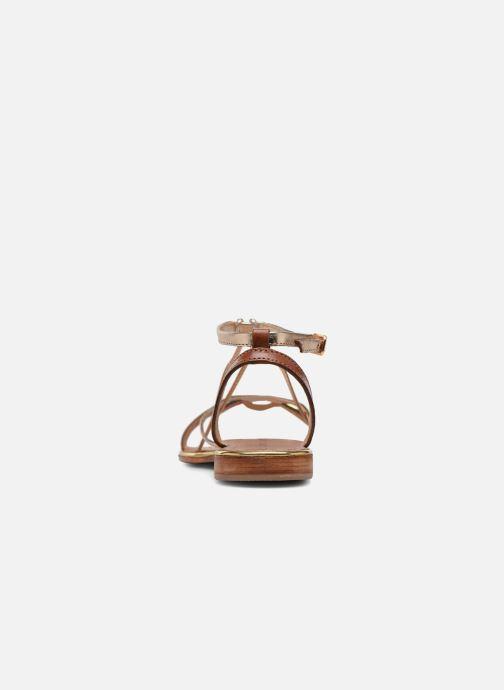 Sandales et nu-pieds Les Tropéziennes par M Belarbi Hirondel Marron vue droite