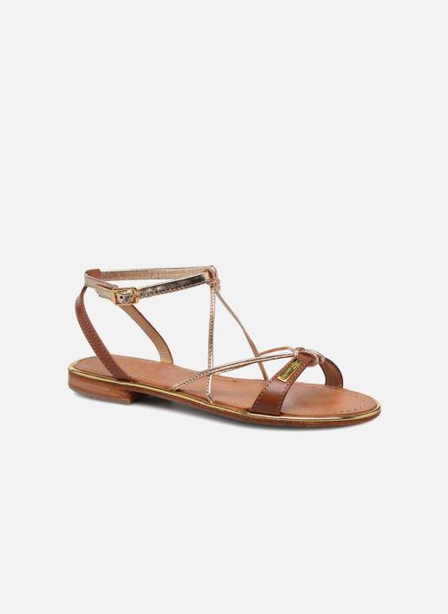 Sandales et nu-pieds Les Tropéziennes par M Belarbi Hirondel Marron vue détail/paire