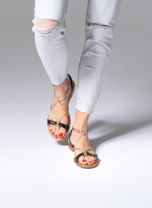 Sandales et nu-pieds Les Tropéziennes par M Belarbi Hirondel Noir vue bas / vue portée sac
