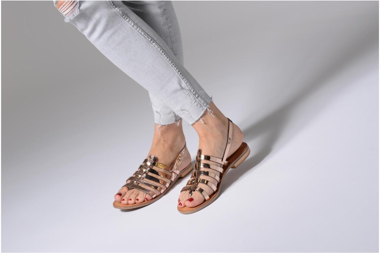 Sandales et nu-pieds Les Tropéziennes par M Belarbi Hemir Argent vue bas / vue portée sac