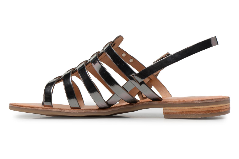 Sandales et nu-pieds Les Tropéziennes par M Belarbi Hemir Argent vue face
