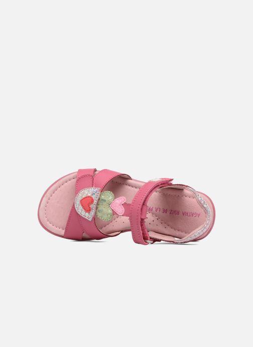 Sandals Agatha Ruiz de la Prada Aitana Pink view from the left