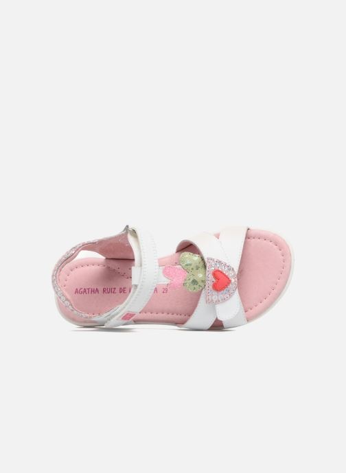 Sandals Agatha Ruiz de la Prada Aitana White view from the left
