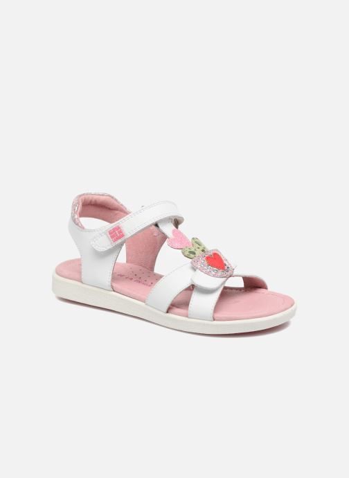 Sandals Agatha Ruiz de la Prada Aitana White detailed view/ Pair view