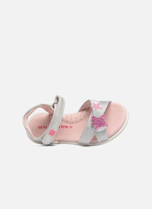 Sandales et nu-pieds Agatha Ruiz de la Prada Beauty 2 Argent vue gauche