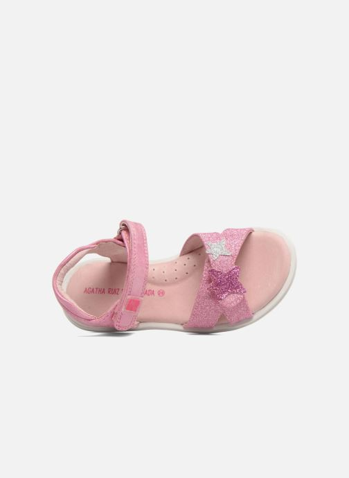 Sandals Agatha Ruiz de la Prada Beauty 2 Pink view from the left