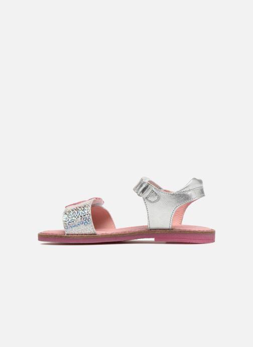 Sandals Agatha Ruiz de la Prada Miss Ponza 3 Silver front view