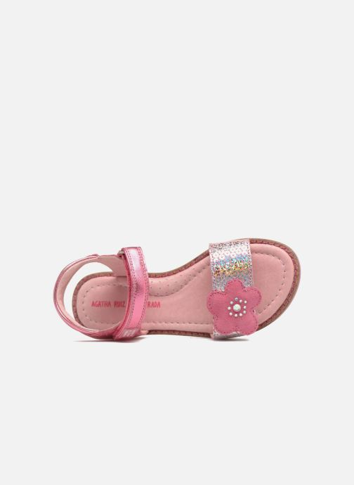 Sandales et nu-pieds Agatha Ruiz de la Prada Miss Ponza 3 Rose vue gauche
