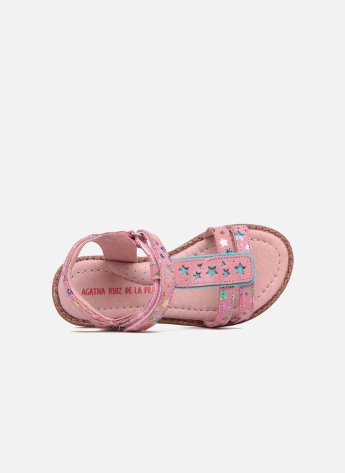 Sandals Agatha Ruiz de la Prada Miss Ponza 4 Pink view from the left