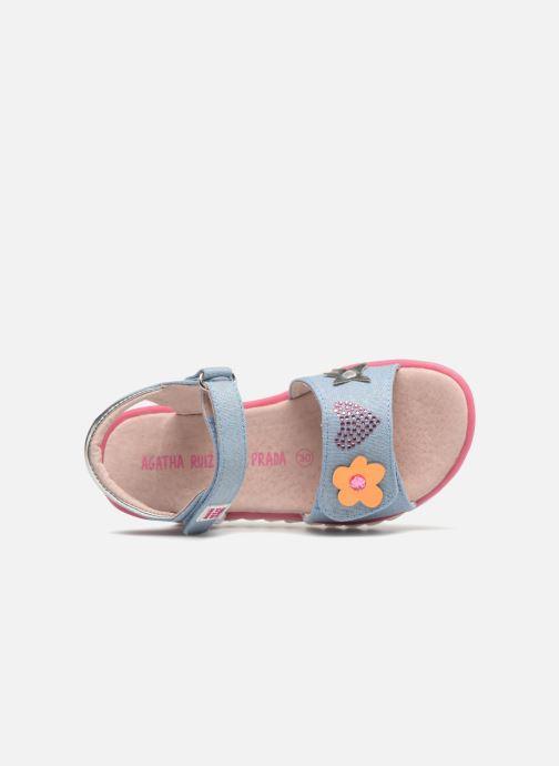 Sandales et nu-pieds Agatha Ruiz de la Prada Smile Bleu vue gauche