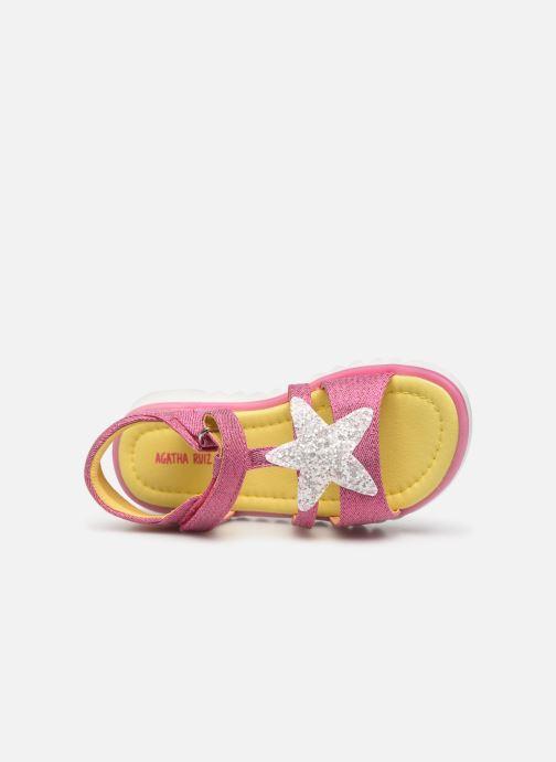 Sandali e scarpe aperte Agatha Ruiz de la Prada Smile Rosa immagine sinistra