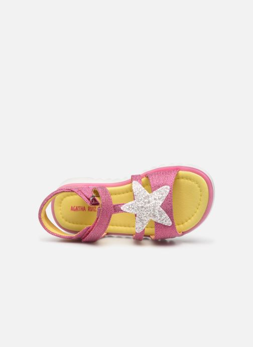 Sandales et nu-pieds Agatha Ruiz de la Prada Smile Rose vue gauche