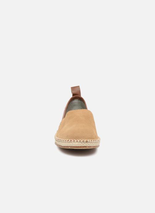 Scarpe di corda El Naturalista Nautilus N5360 Beige modello indossato