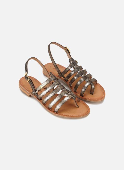Sandales et nu-pieds Les Tropéziennes par M Belarbi Hariette Or et bronze vue face