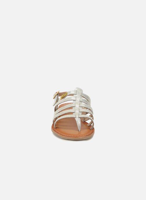 Sandales et nu-pieds Les Tropéziennes par M Belarbi Hariette Argent vue portées chaussures