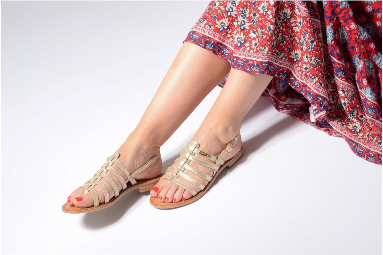 Sandales et nu-pieds Les Tropéziennes par M Belarbi Hariette Beige vue bas / vue portée sac
