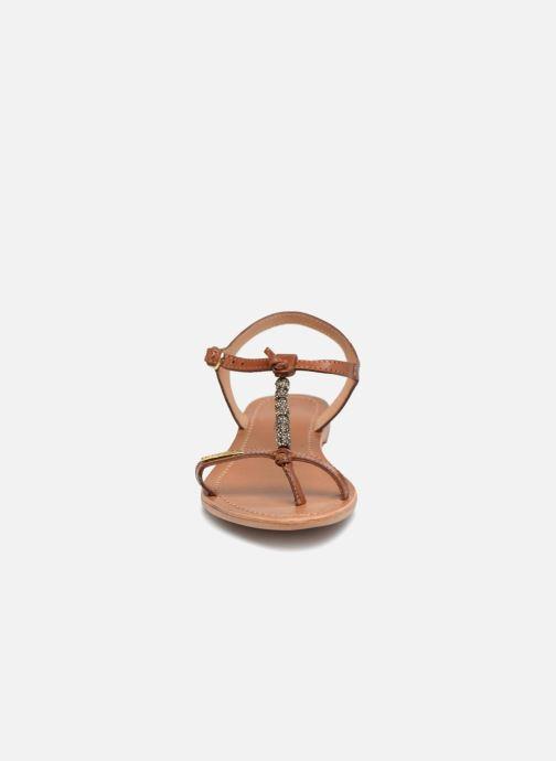 Sandales et nu-pieds Les Tropéziennes par M Belarbi Vahiné Marron vue portées chaussures