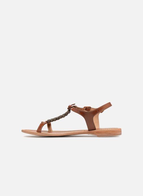 Sandales et nu-pieds Les Tropéziennes par M Belarbi Vahiné Marron vue face