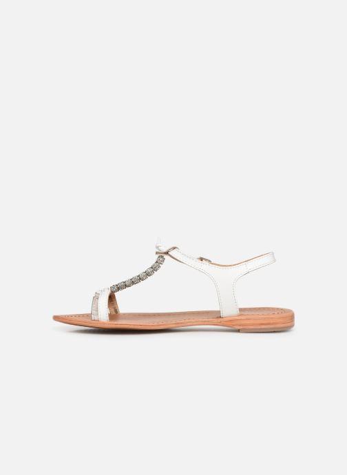 Sandales et nu-pieds Les Tropéziennes par M Belarbi Vahiné Blanc vue face