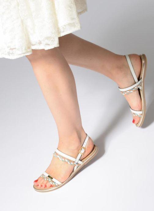 Sandales et nu-pieds Les Tropéziennes par M Belarbi Bridget Blanc vue bas / vue portée sac