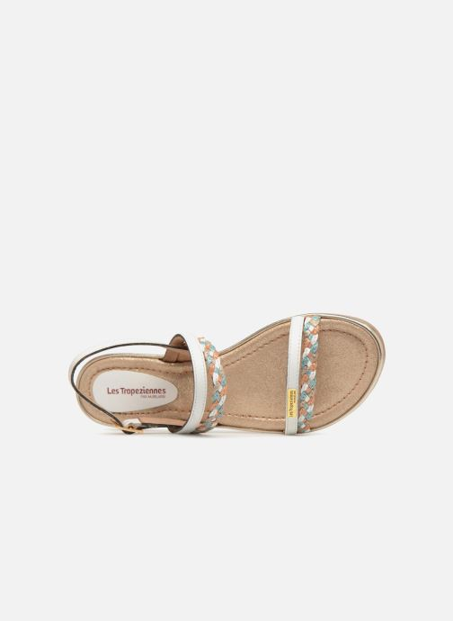 Sandales et nu-pieds Les Tropéziennes par M Belarbi Bridget Blanc vue gauche