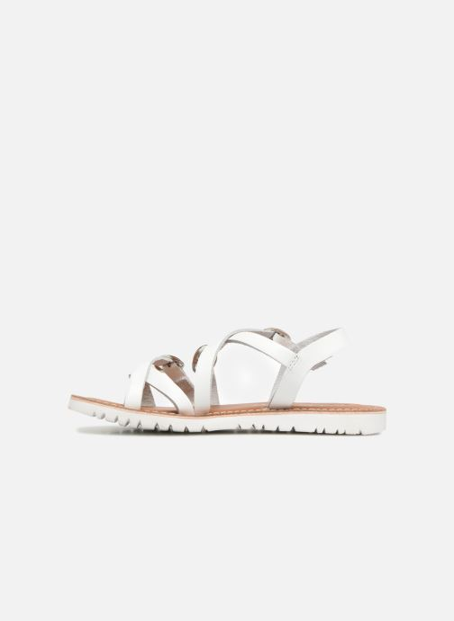 Sandali e scarpe aperte L'Atelier Tropézien Camille Bianco immagine frontale