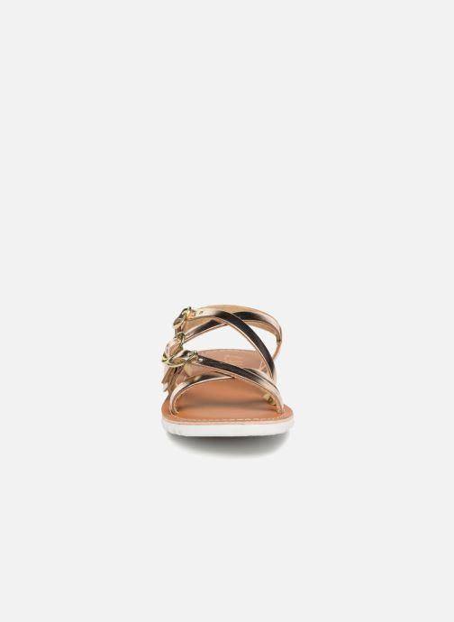 Sandali e scarpe aperte L'Atelier Tropézien Camille Oro e bronzo modello indossato