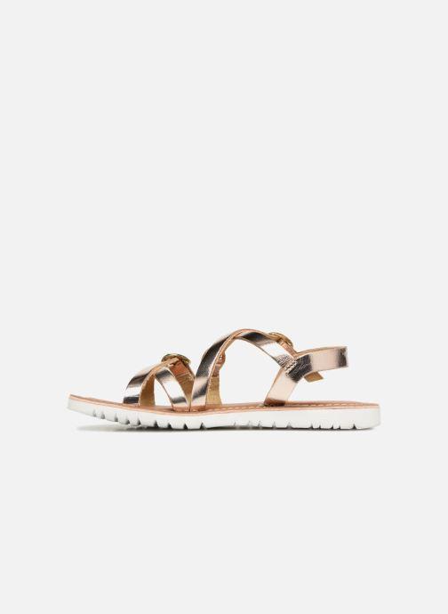 Sandales et nu-pieds L'Atelier Tropézien Camille Or et bronze vue face