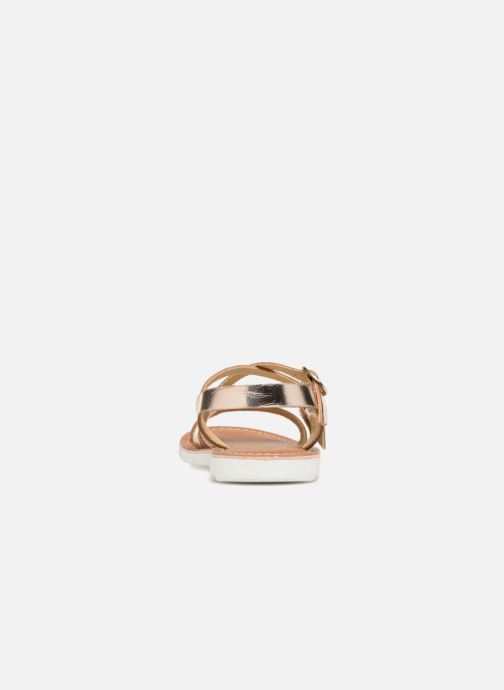 Sandales et nu-pieds L'Atelier Tropézien Camille Or et bronze vue droite