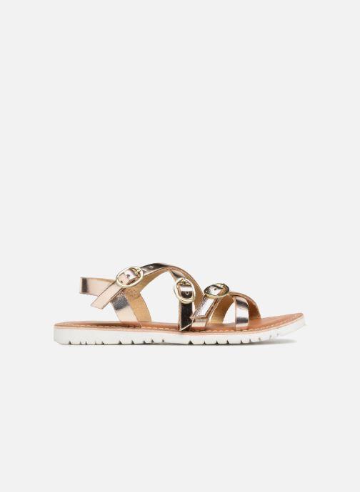 Sandales et nu-pieds L'Atelier Tropézien Camille Or et bronze vue derrière