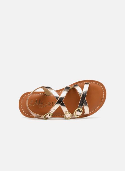Sandales et nu-pieds L'Atelier Tropézien Camille Or et bronze vue gauche
