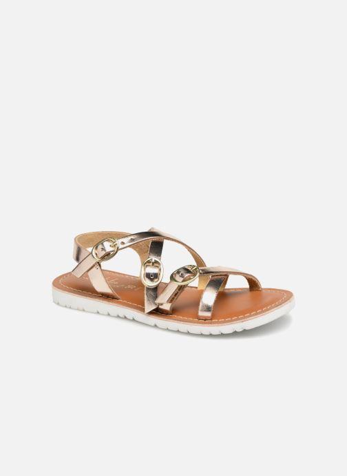 Sandales et nu-pieds L'Atelier Tropézien Camille Or et bronze vue détail/paire