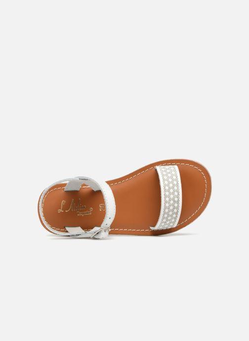 Sandales et nu-pieds L'Atelier Tropézien Marie Blanc vue gauche