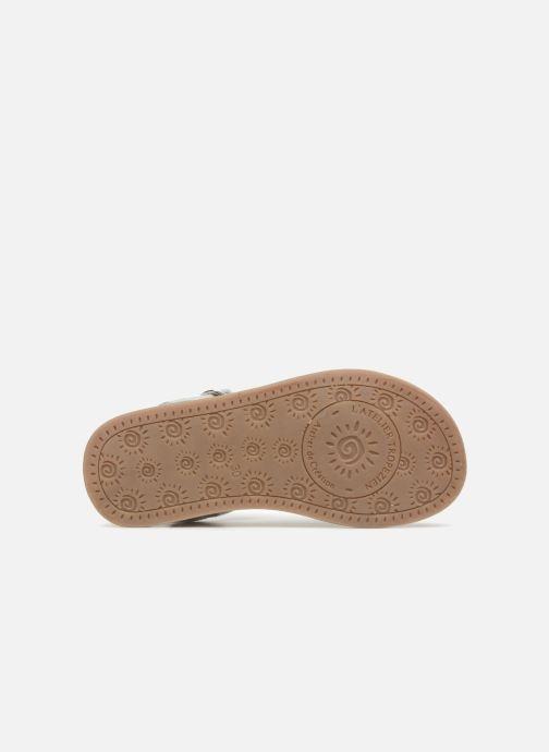 Sandales et nu-pieds L'Atelier Tropézien Marie Blanc vue haut