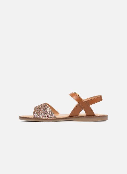 Sandales et nu-pieds L'Atelier Tropézien Helene Argent vue face