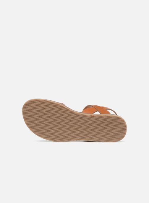 Sandales et nu-pieds L'Atelier Tropézien Helene Argent vue haut