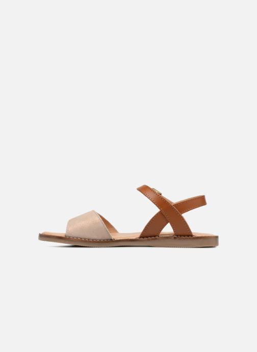 Sandales et nu-pieds L'Atelier Tropézien Helene Beige vue face