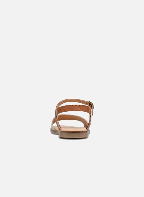 Sandales et nu-pieds L'Atelier Tropézien Helene Beige vue droite