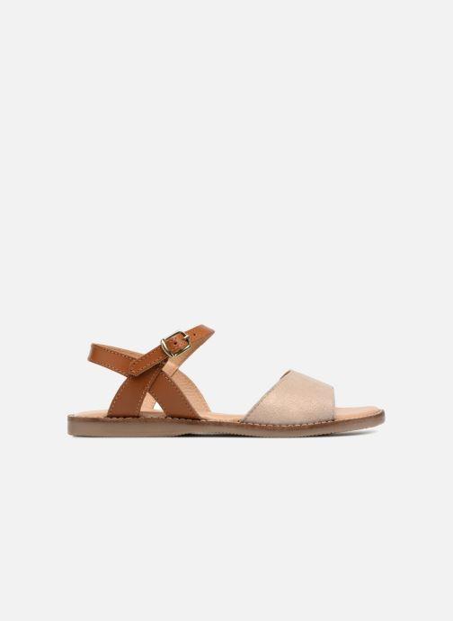 Sandales et nu-pieds L'Atelier Tropézien Helene Beige vue derrière