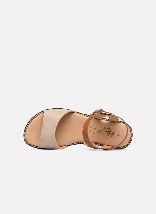 Sandales et nu-pieds L'Atelier Tropézien Helene Beige vue gauche