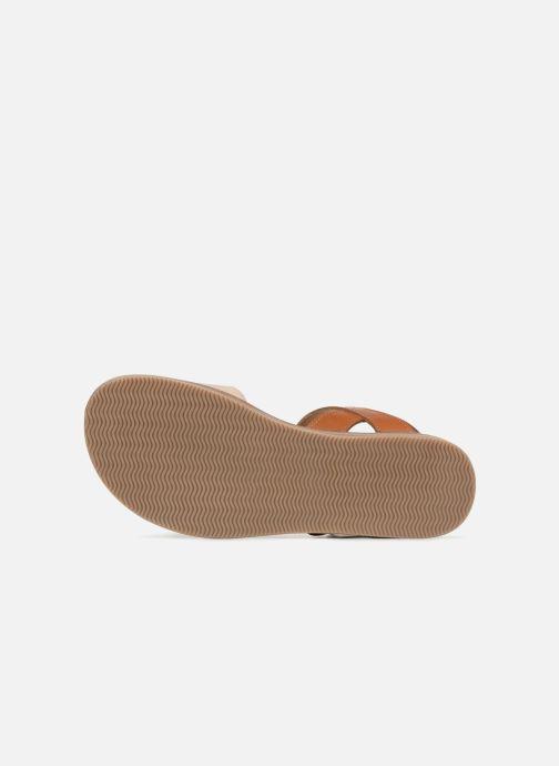 Sandales et nu-pieds L'Atelier Tropézien Helene Beige vue haut