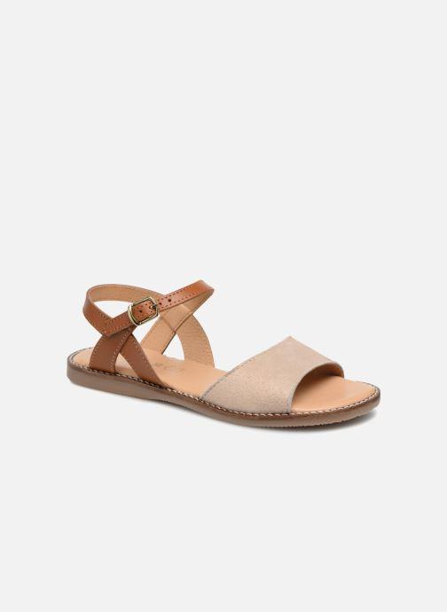 Sandales et nu-pieds L'Atelier Tropézien Helene Beige vue détail/paire