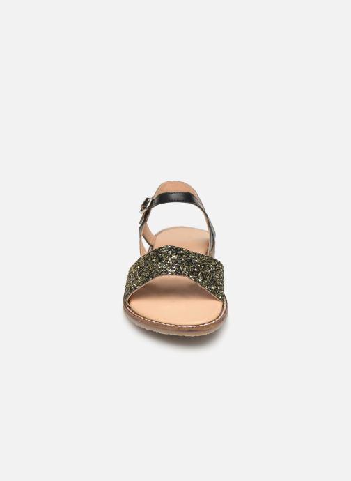 Sandales et nu-pieds L'Atelier Tropézien Helene Noir vue portées chaussures