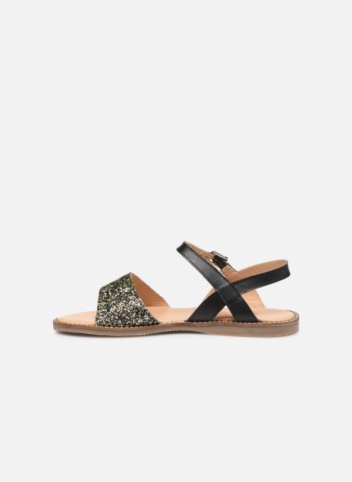 Sandales et nu-pieds L'Atelier Tropézien Helene Noir vue face