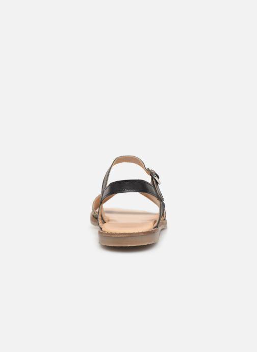 Sandales et nu-pieds L'Atelier Tropézien Helene Noir vue droite