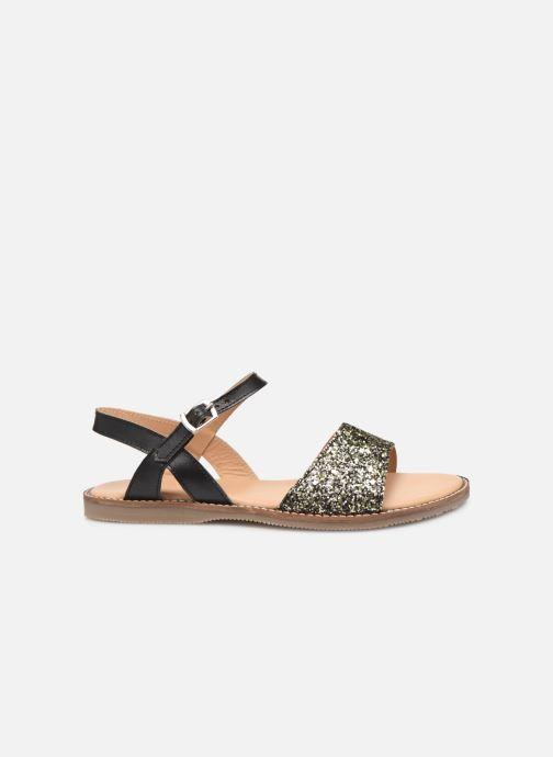 Sandales et nu-pieds L'Atelier Tropézien Helene Noir vue derrière