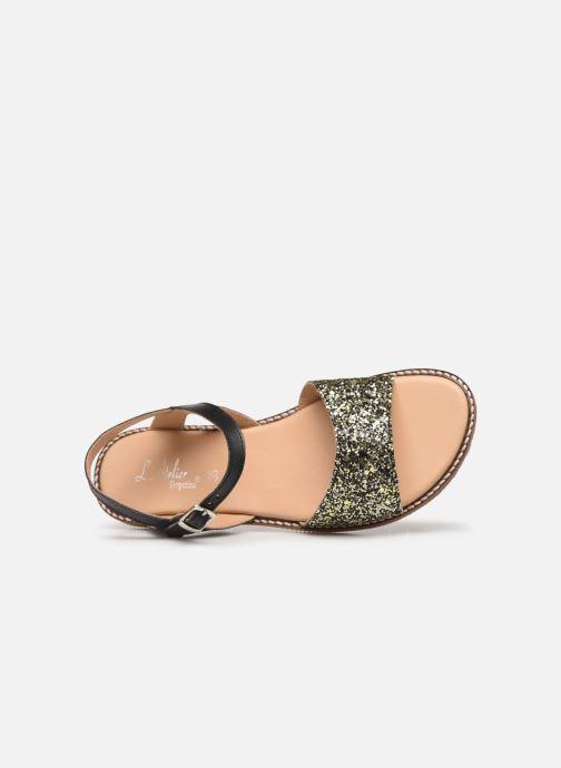 Sandales et nu-pieds L'Atelier Tropézien Helene Noir vue gauche