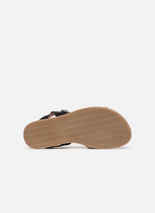 Sandales et nu-pieds L'Atelier Tropézien Helene Noir vue haut