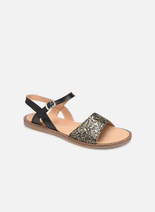 Sandales et nu-pieds L'Atelier Tropézien Helene Noir vue détail/paire