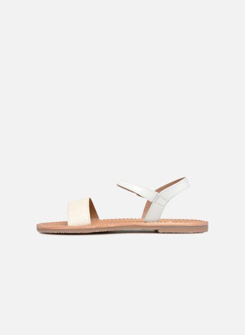 Sandali e scarpe aperte L'Atelier Tropézien Caroline Bianco immagine frontale